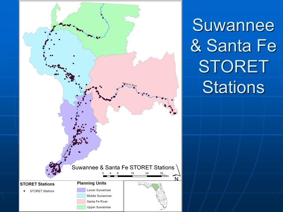 Suwannee & Santa Fe STORET Stations