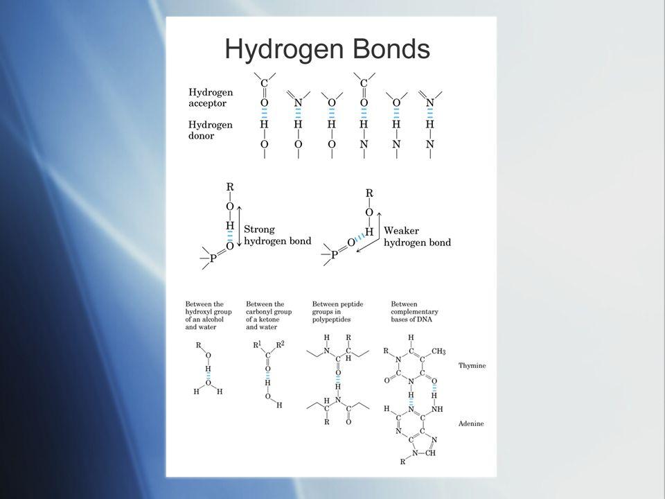 Chemical Bonds  Covalent bonds  Hydrogen bonds  Ionic bonds  Van der Waals bonds  Covalent bonds  Hydrogen bonds  Ionic bonds  Van der Waals bonds