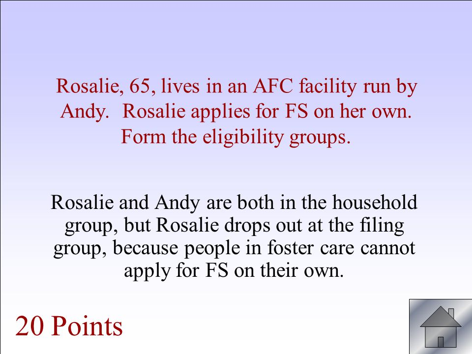 Rosalie, 65, lives in an AFC facility run by Andy.