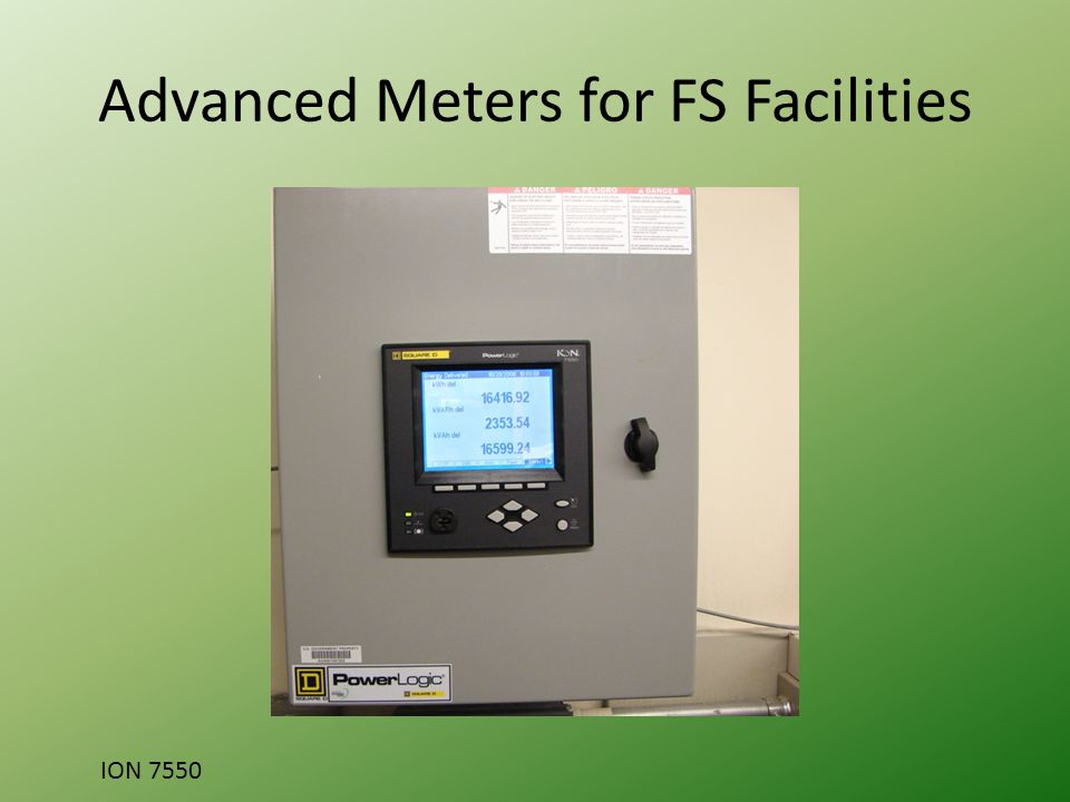 Advanced Meters for FS Facilities ION 7550