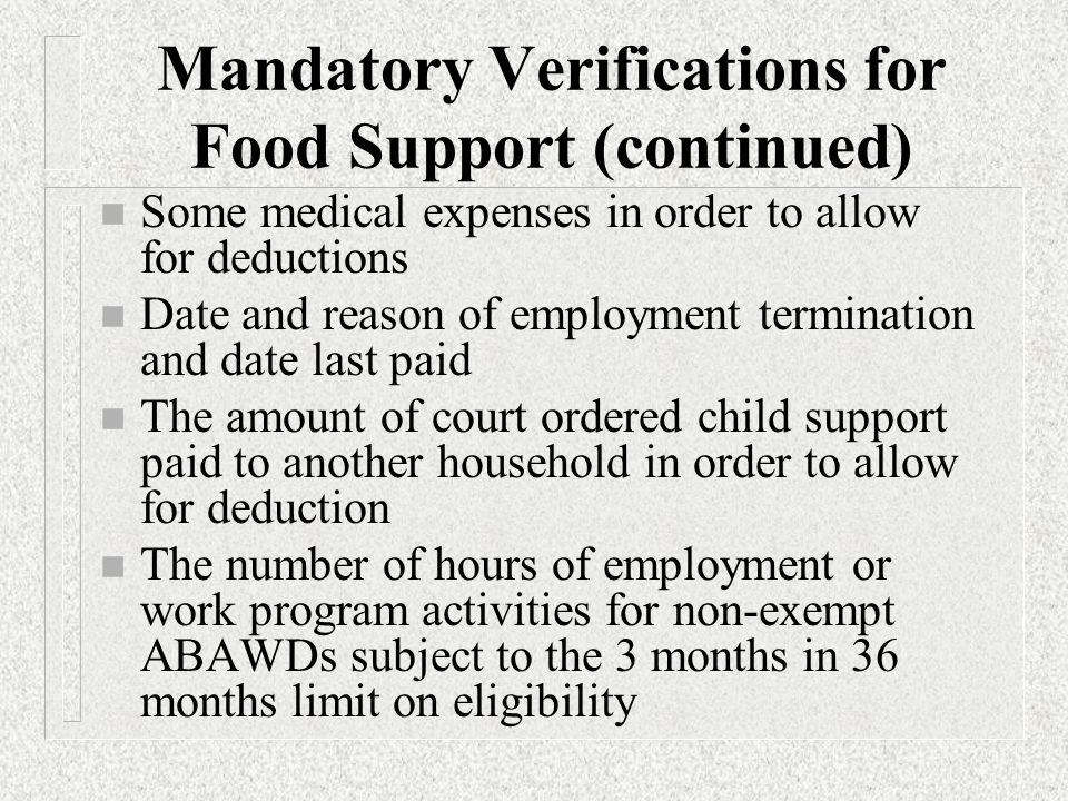Mandatory Verification Activity To verify or not to verify?