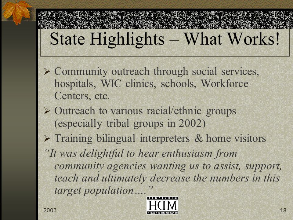 200318 State Highlights – What Works.