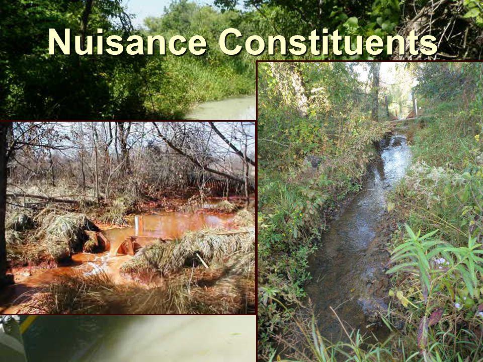 Effluent Criteria System Effluent (mg/L) Effluent Criteria (mg/L)Source TN1.01 ± 0.260.36 (lakes) 0.69 (streams) EPA, 2000 TP0.59 ± 0.140.020 (lakes) 0.037 (streams) EPA, 2000 Sulfide<0.5 - 3.40.002 as H 2 SEPA, 1986 CBOD 5 2.3 - 8.525EPA, 1984 COD8 - 21NA