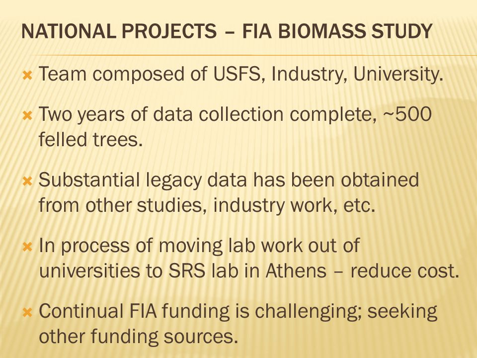  Team composed of USFS, Industry, University.