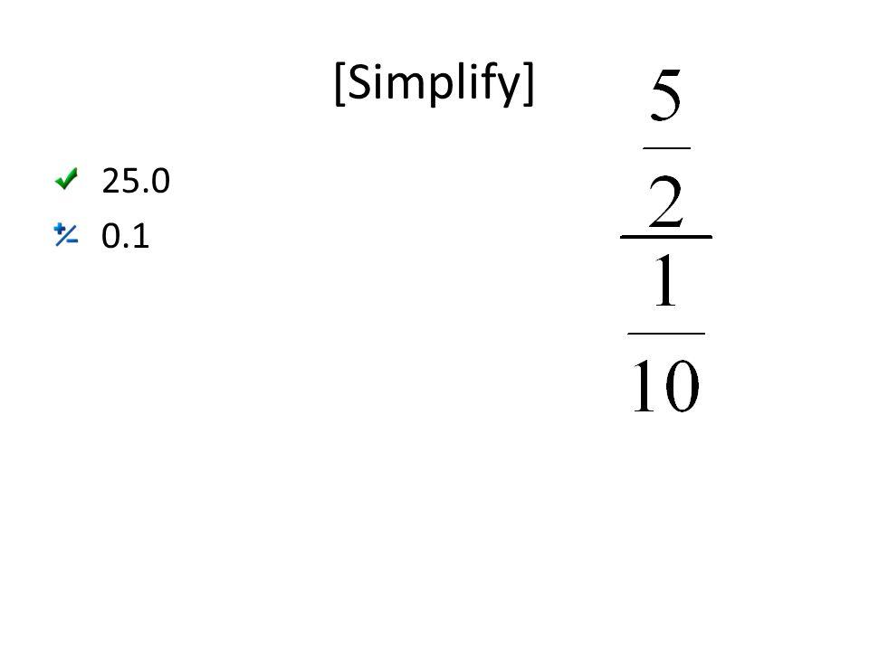 [Simplify] 25.0 0.1