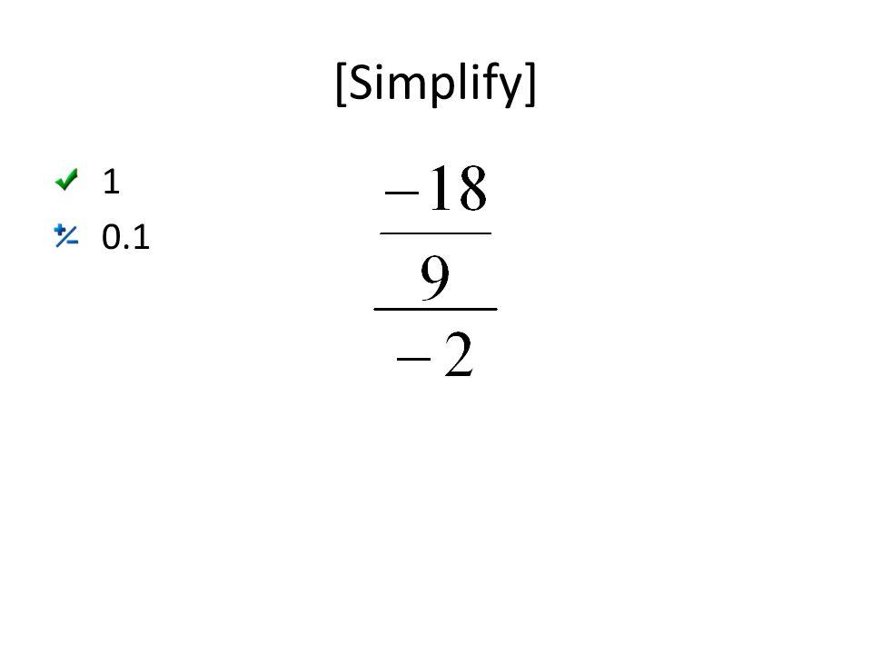 [Simplify] 1 0.1