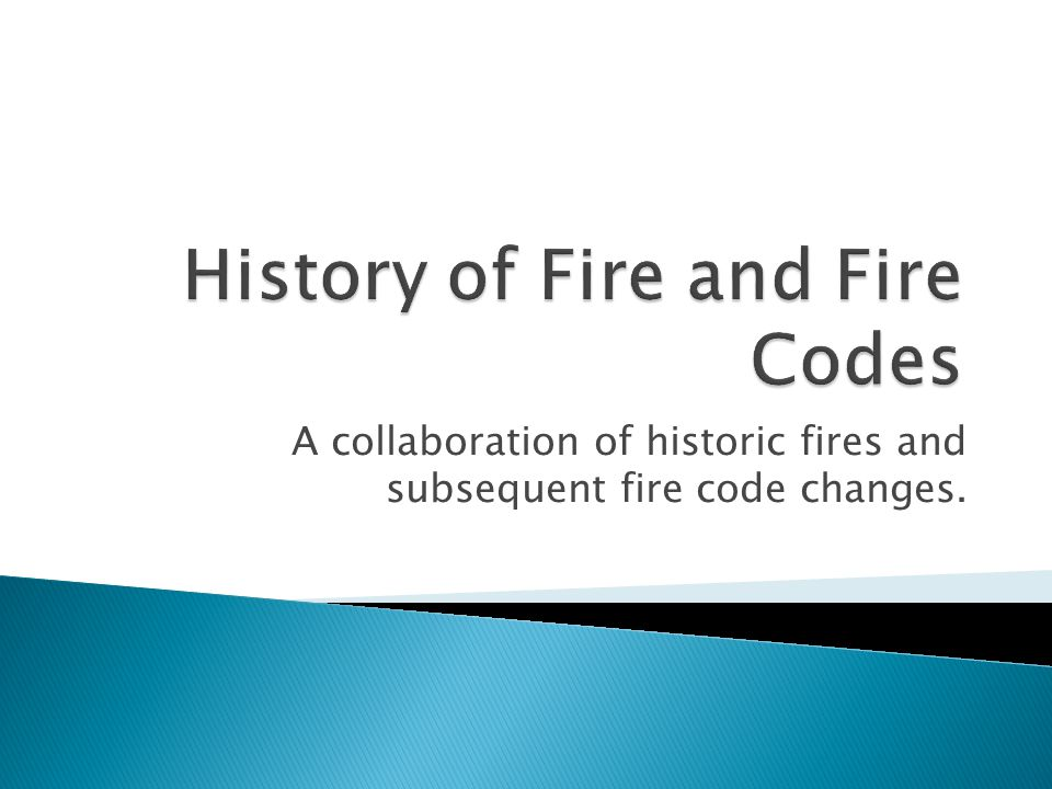 A collaboration of historic fires and subsequent fire code changes.