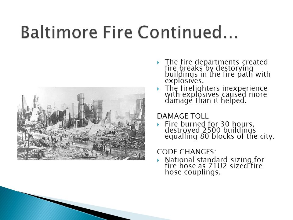  The fire departments created fire breaks by destorying buildings in the fire path with explosives.
