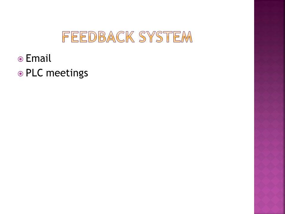  Email  PLC meetings