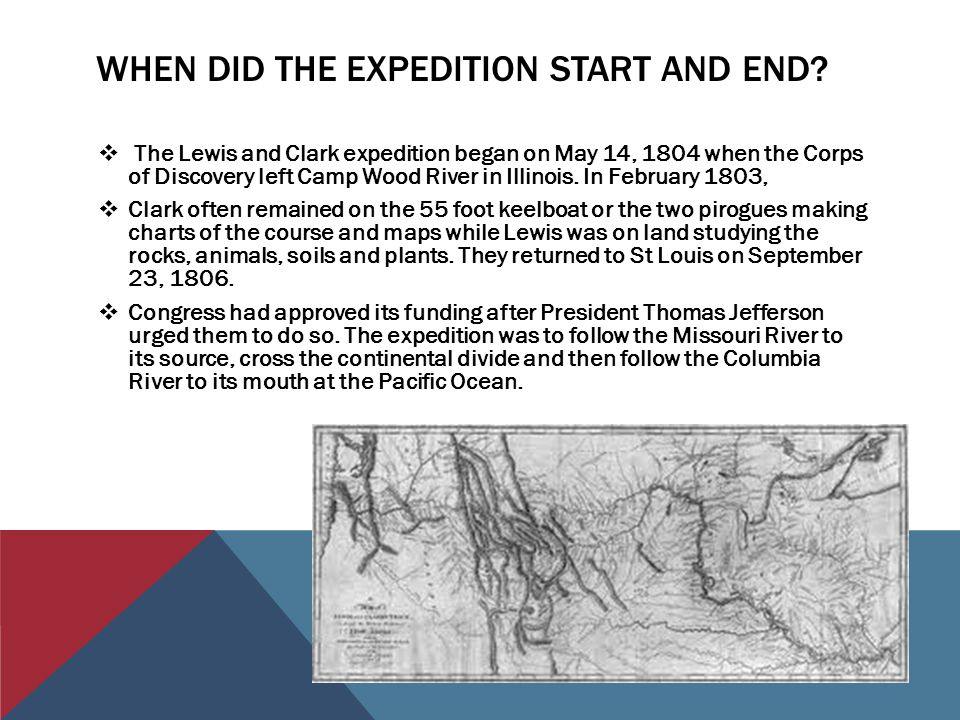 WHEN DID THE EXPEDITION START AND END.