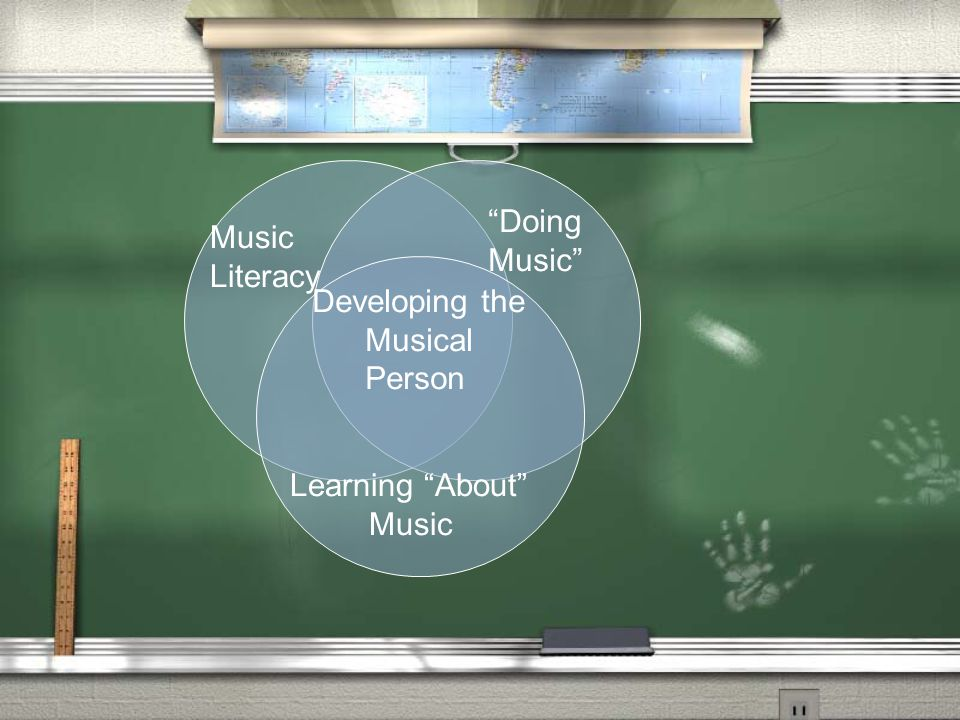 "Music Literacy ""Doing Music"" Learning ""About"" Music Developing the Musical Person"