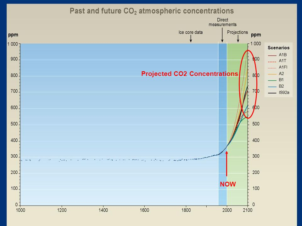 NOW Projected CO2 Concentrations