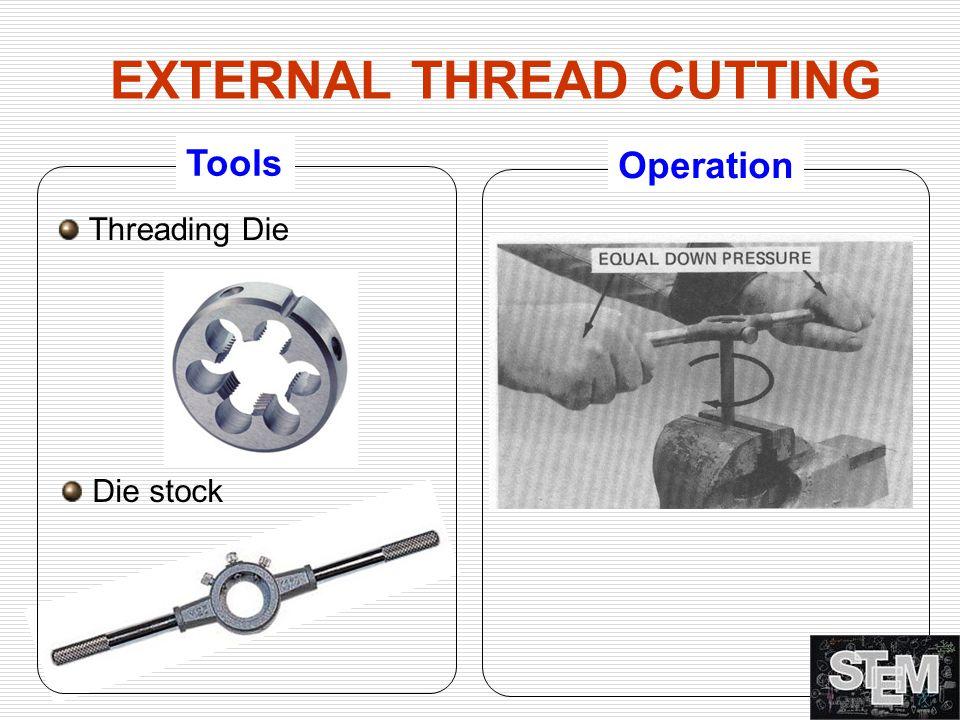 EXTERNAL THREAD CUTTING Tools Operation Threading Die Die stock