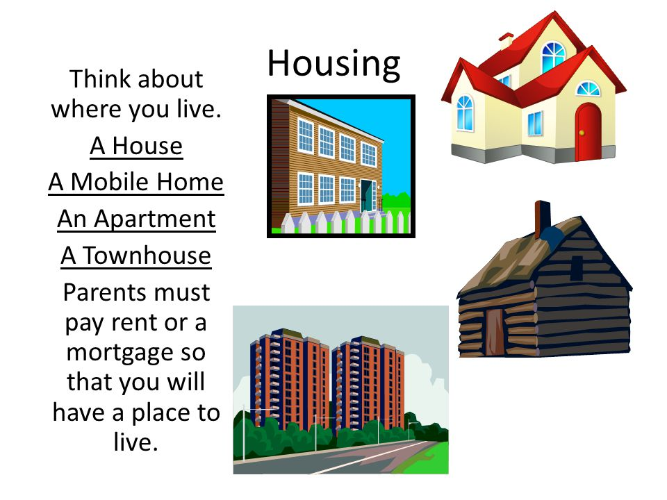 Housing Think about where you live.
