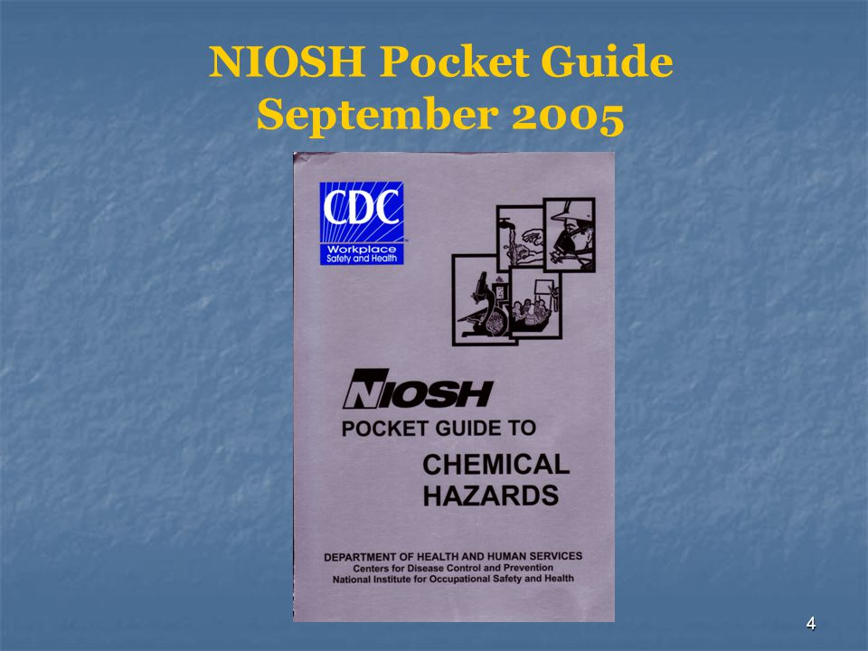 5 NIOSH Contents  Roman numeral pages contain information keys  Multiple opportunities to indentify chemical  Name, Chemical Abstracts Services (CAS) #, Synonym/trade name list  Affords responders more detailed information to assist in planning  Use after material identification and DOT-ERG application