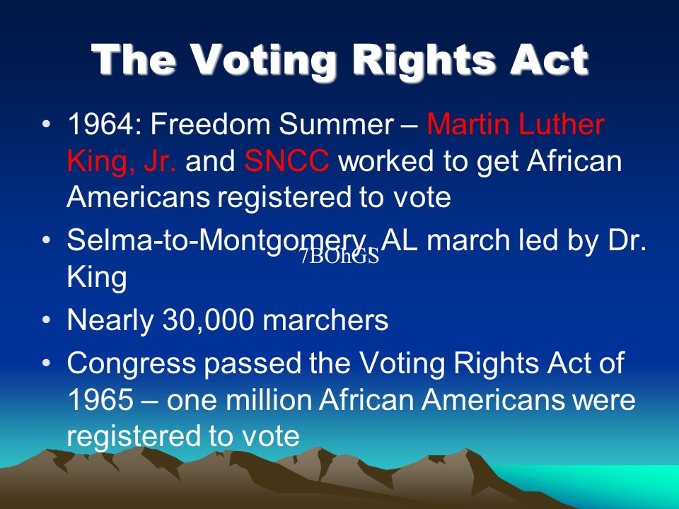 The Voting Rights Act 1964: Freedom Summer – Martin Luther King, Jr.