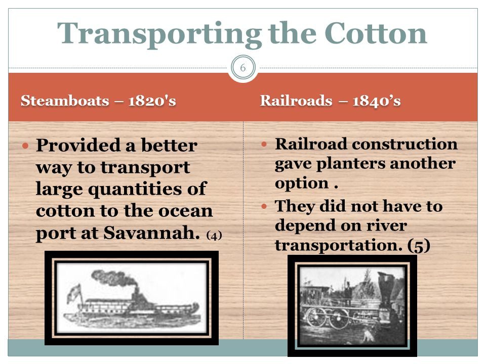 Rail lines affect Georgia's Piedmont Region Using the rail lines, farmers could extend cotton growing into the Piedmont Region (6) 7
