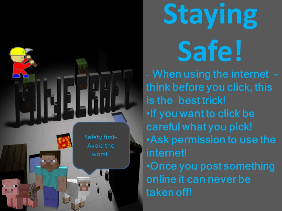 Cyber Bullying Don't say mean things to other people online! If you see cyber bullying show an adult or report it! Its mean, harsh, rude, and unwanted