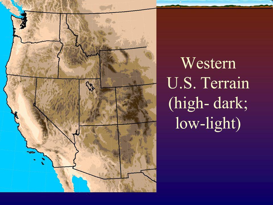 Western U.S. Terrain (high- dark; low-light)