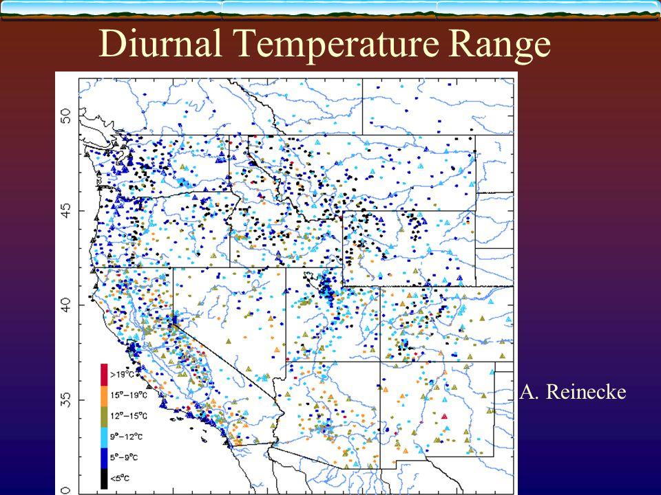 Diurnal Temperature Range A. Reinecke