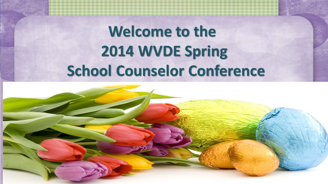 Welcome to the 2014 WVDE Spring School Counselor Conference