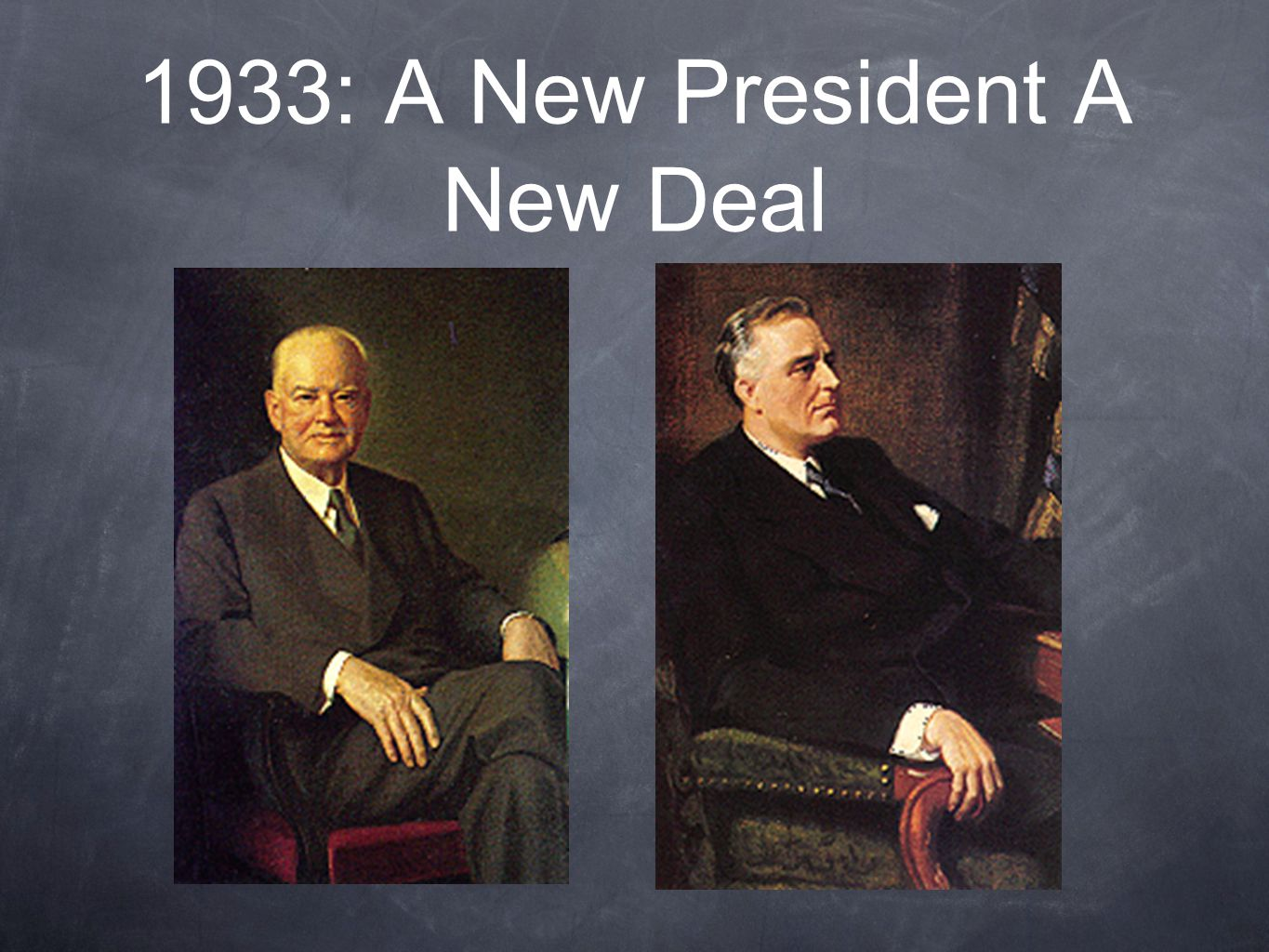 1933: A New President A New Deal