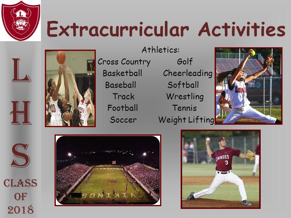Extracurricular Activities L H S Class Of 2018 Athletics: Cross Country Golf BasketballCheerleading Baseball Softball Track Wrestling Football Tennis