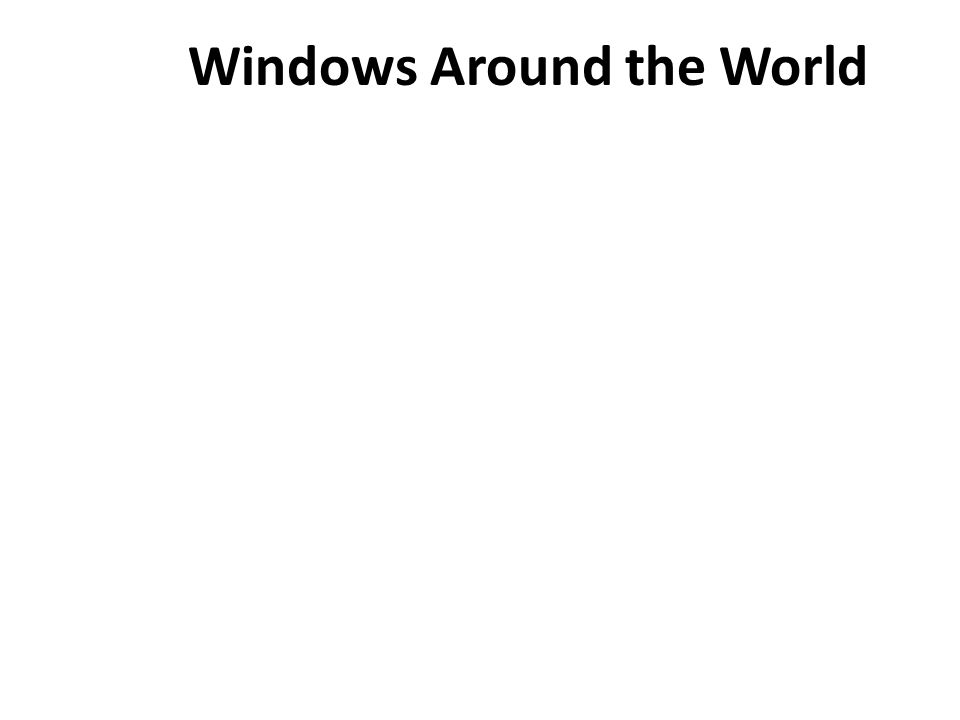 Windows Around the World