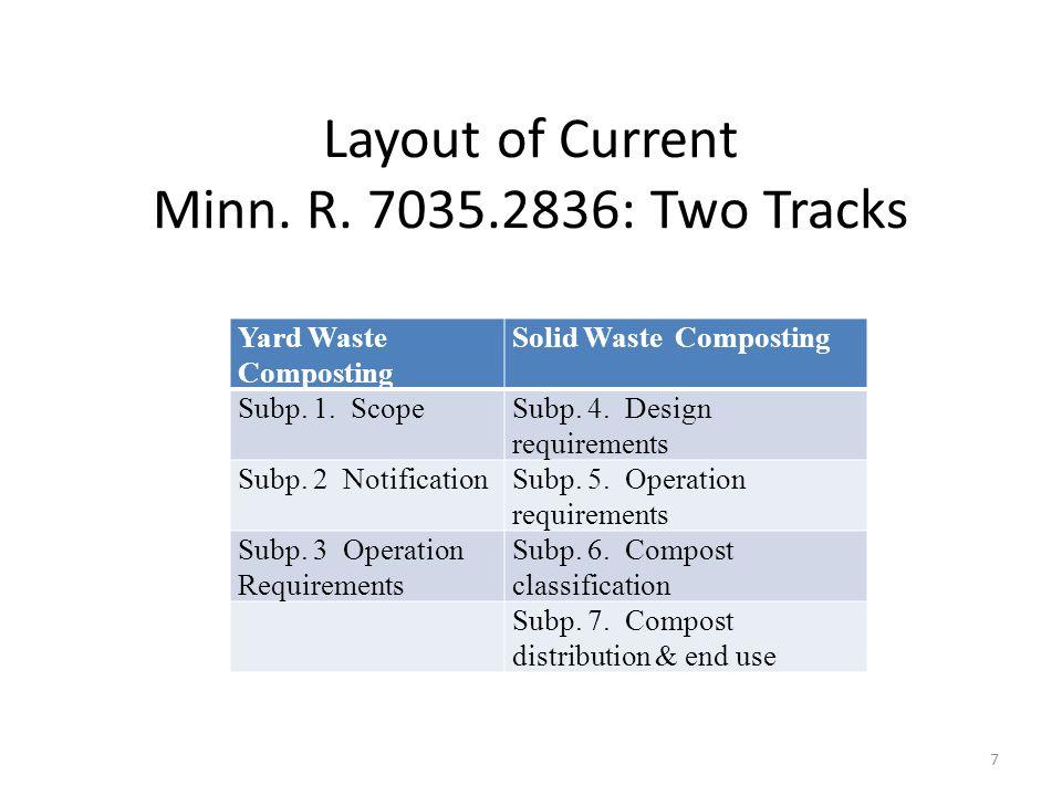 Layout of Current Minn. R.