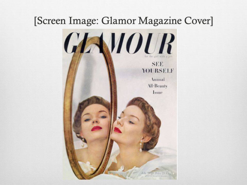[Screen Image: Glamor Magazine Cover][Screen Image: Glamor Magazine Cover]