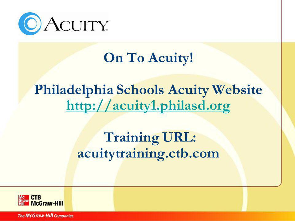 On To Acuity.