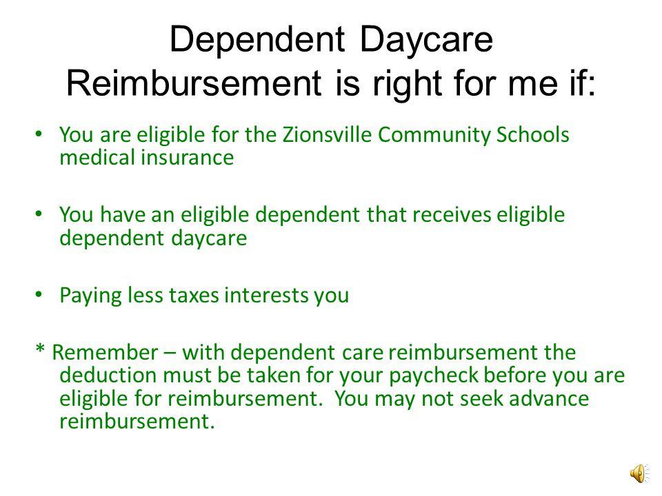 How does Dependent Daycare Reimbursement save me money.