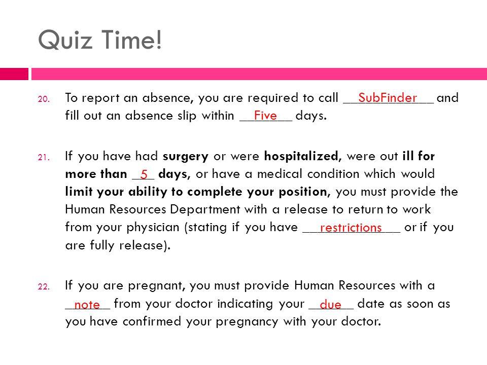 Quiz Time. 20.