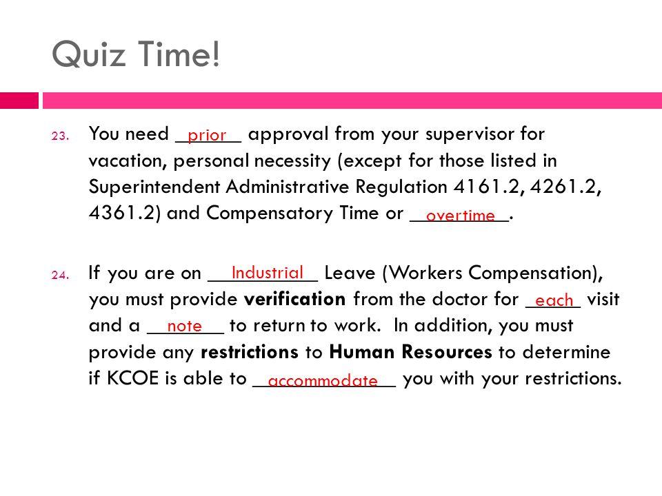 Quiz Time. 23.