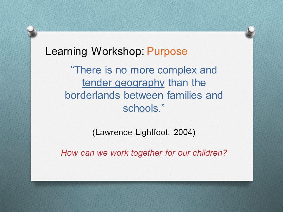Learning Workshop: Tonight's Agenda O How do I learn.