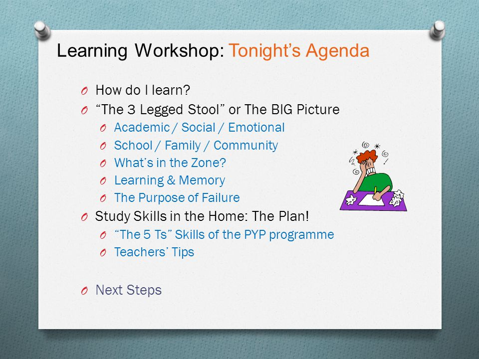 Learning Workshop: The 5 Transdisiplinary TD Skills Can you identify what these skills look like at home.
