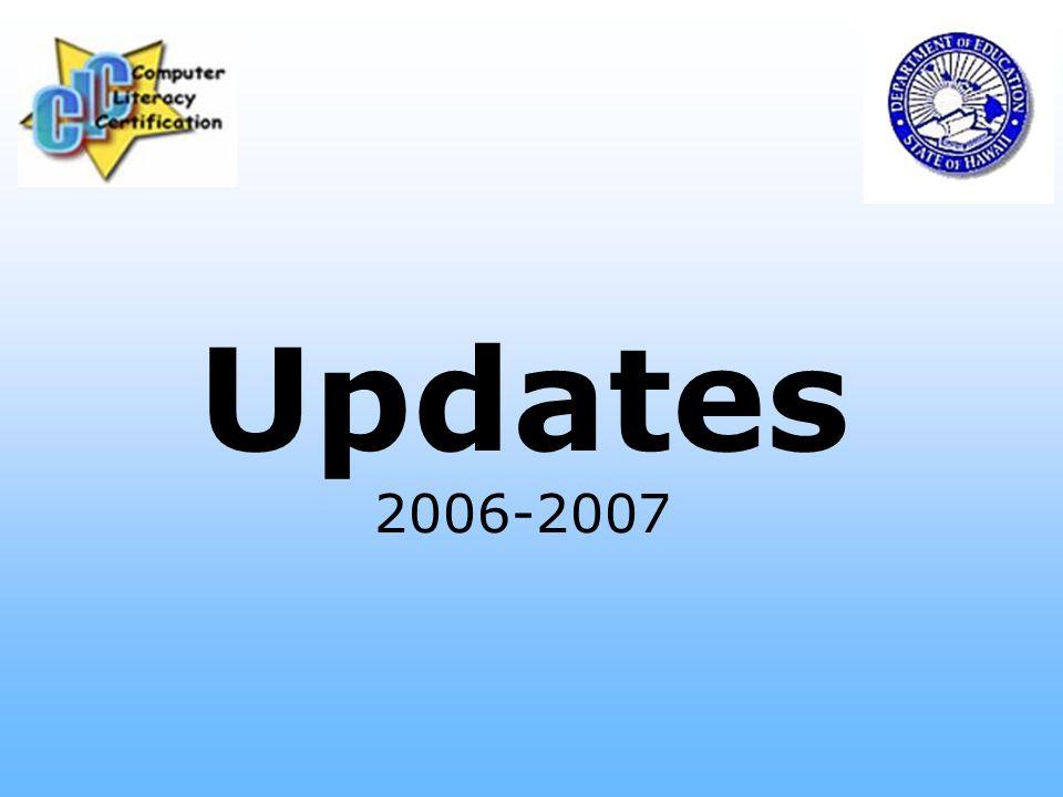 Updates 2006-2007