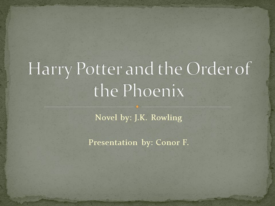 Harry Potter is in his 5 th year at Hogwarts School of Witchcraft and Wizardry.