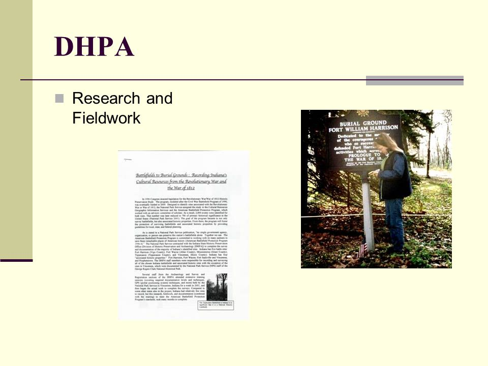 DHPA Research and Fieldwork
