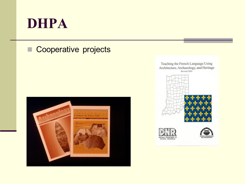 DHPA Cooperative projects
