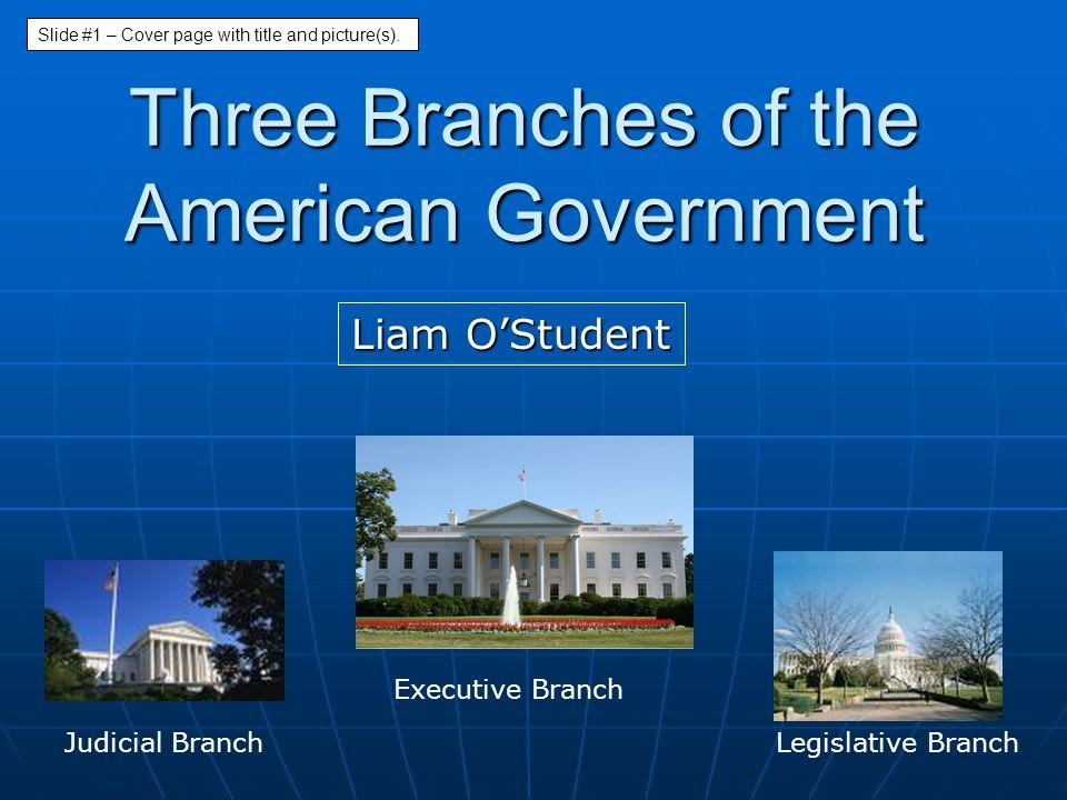 The Branches of Government 1.Legislative Branch 2.
