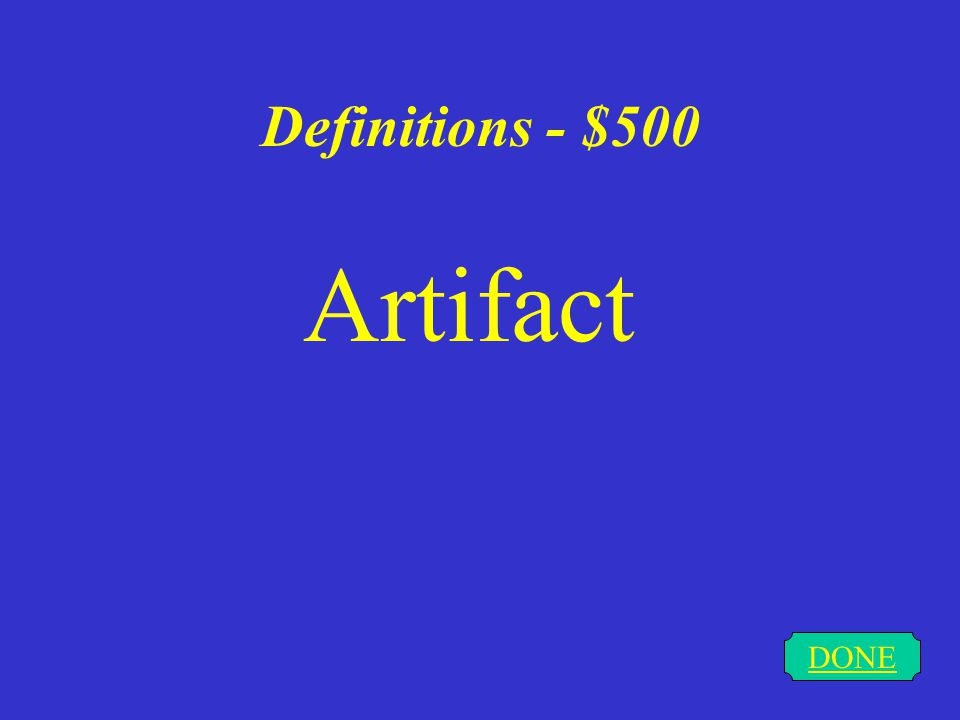Definitions - $400 DONE mammoth