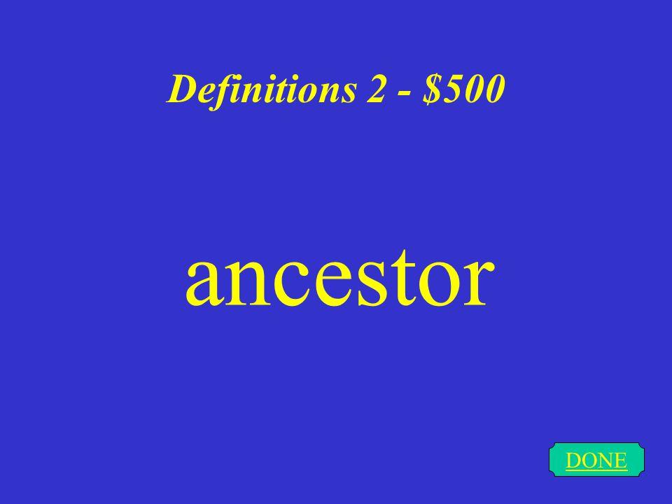 Definitions 2 - $400 DONE bog