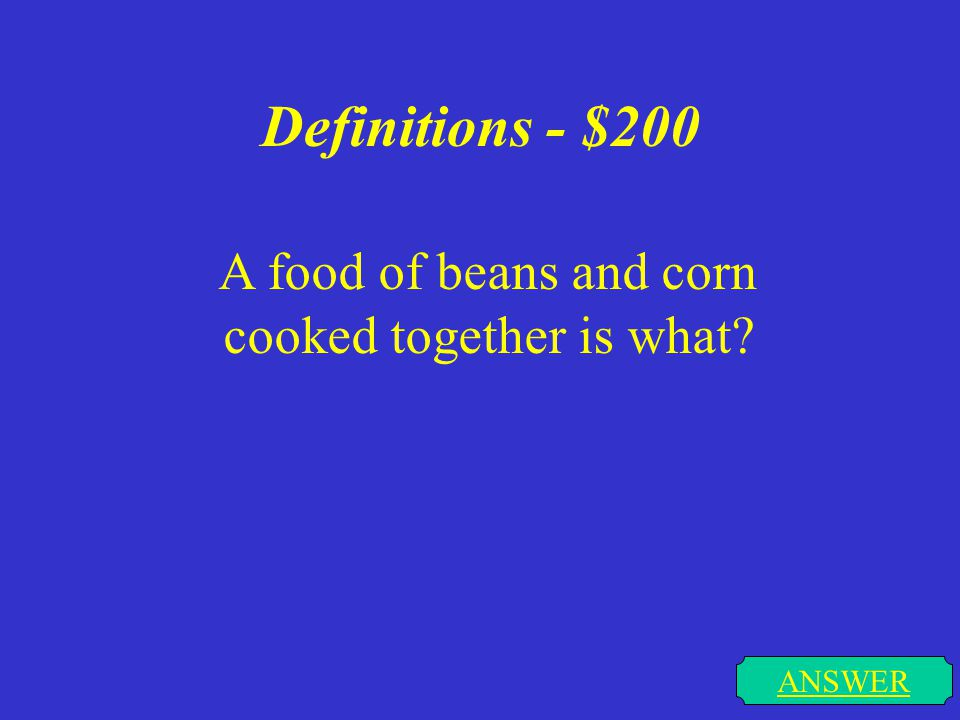 Definitions - $100 Wild animals, birds, and fish caught for food and sport are what ANSWER