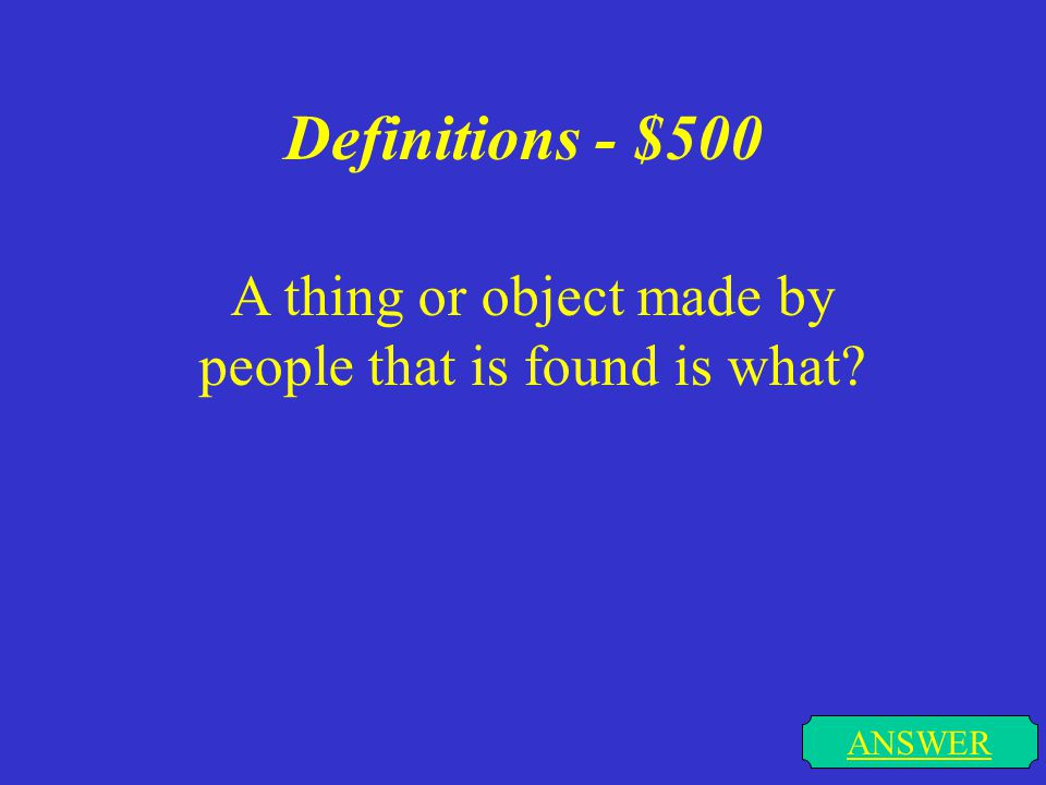 Definitions - $400 ANSWER A huge hairy elephant like animal with long curved tusks that no longer exists is what