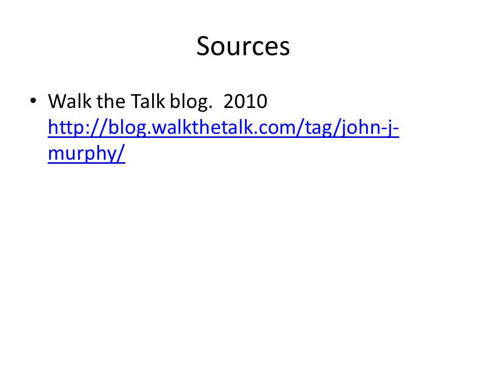 Sources Walk the Talk blog.