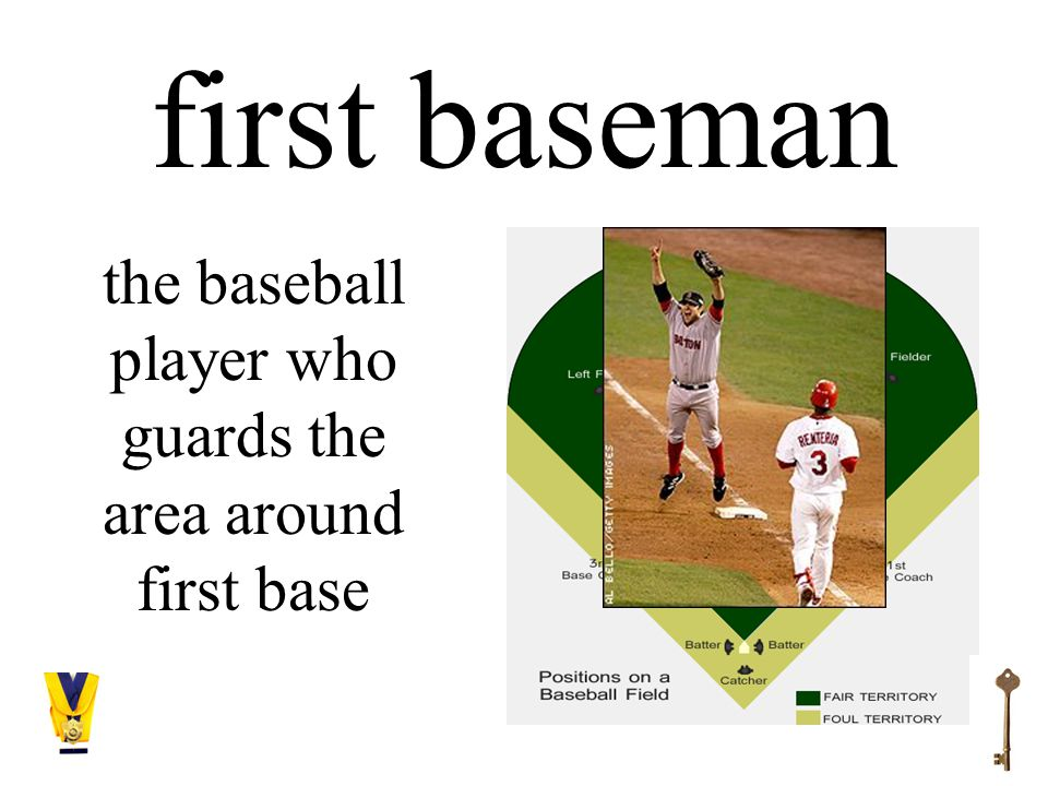 first baseman the baseball player who guards the area around first base
