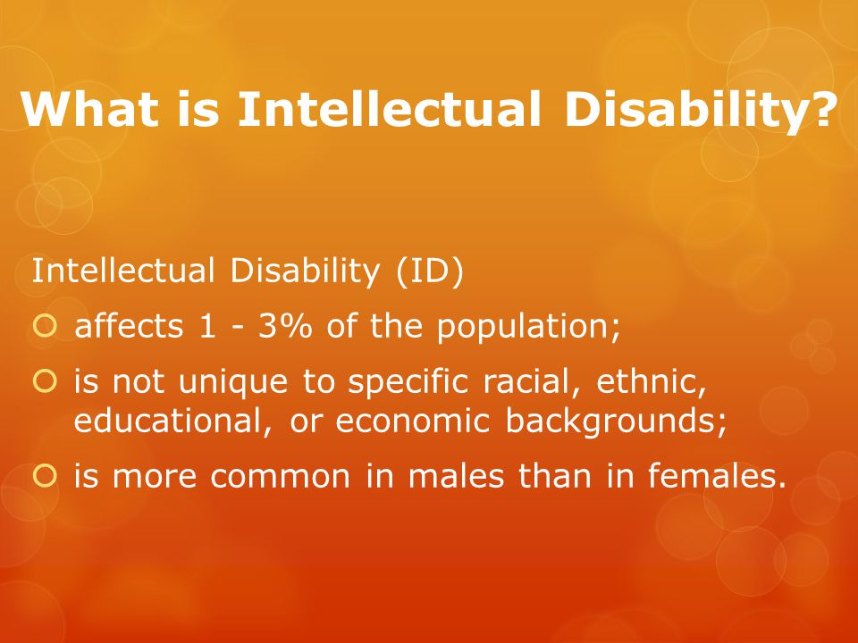 What is Intellectual Disability.