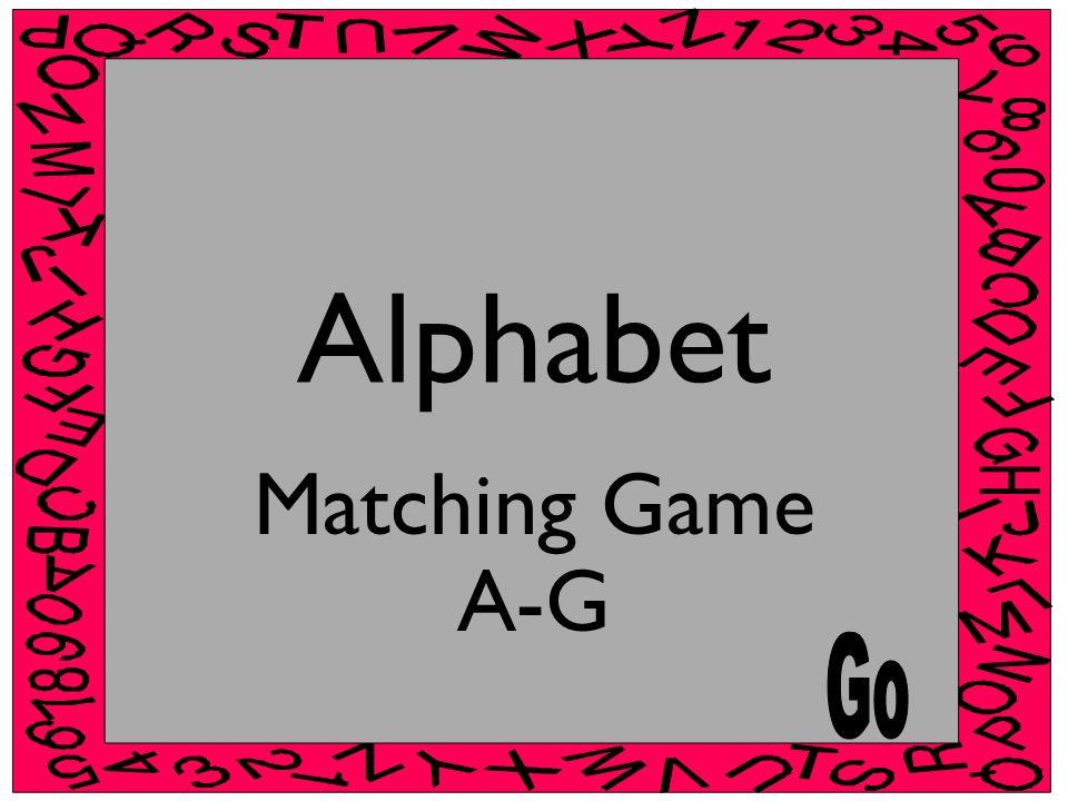 Alphabet Matching Game A-G