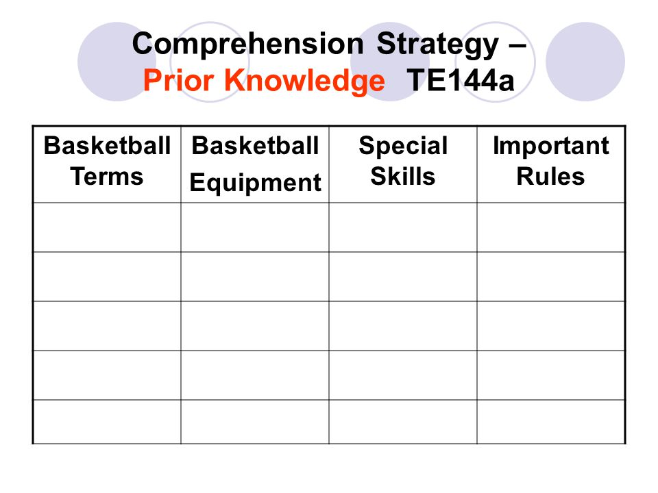 Research/Study Skill – Charts and Tables TE 161 L Tables are a special kind of chart that show information in rows and columns.